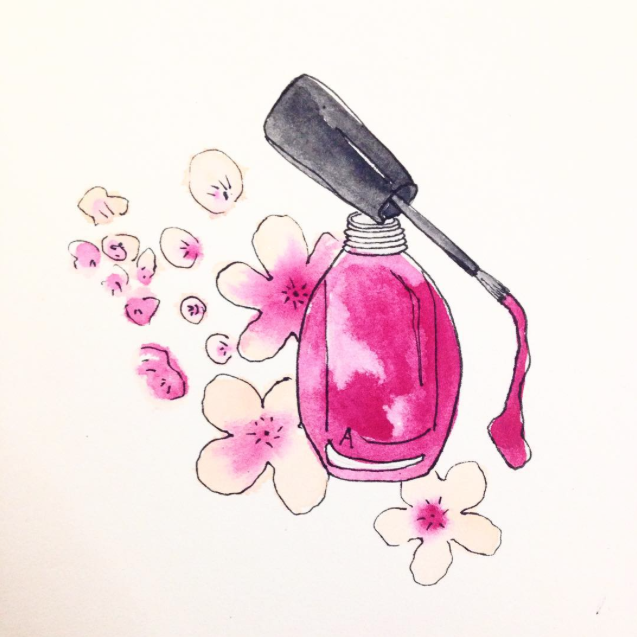 #ohmywatercolour Makeup and Beauty Watercolour practice