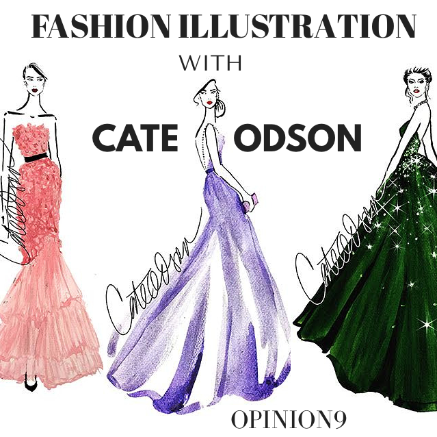 Fashion Illustration with Cate Odson via www.opinion9.com