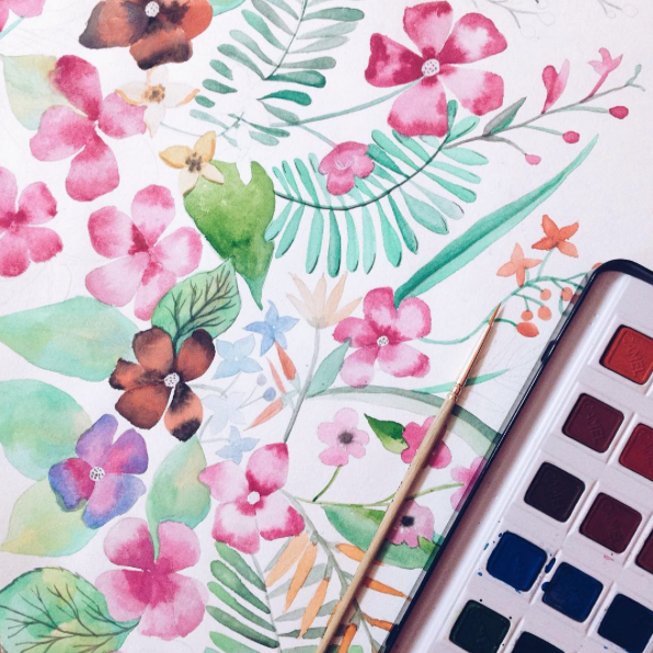 #ohmywatercolour Florals...