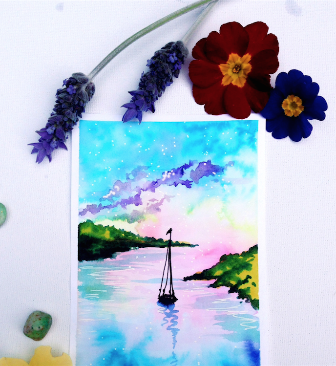 Dreamy Watercolours with Bee - an artist's interview via Opinion9.com