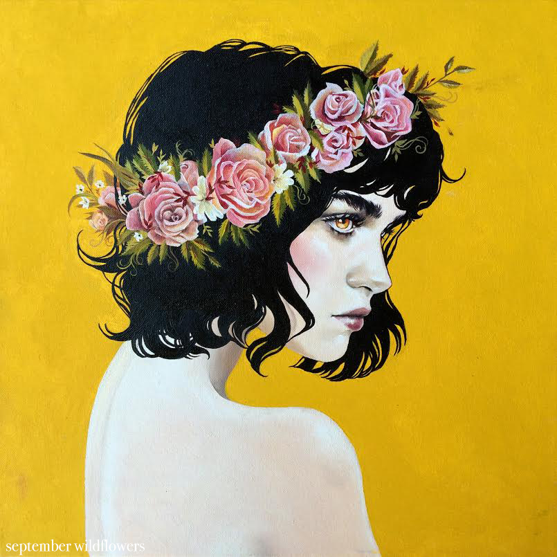 Art with Ruth of September Wildflowers - a creative interview via Opinion9.com
