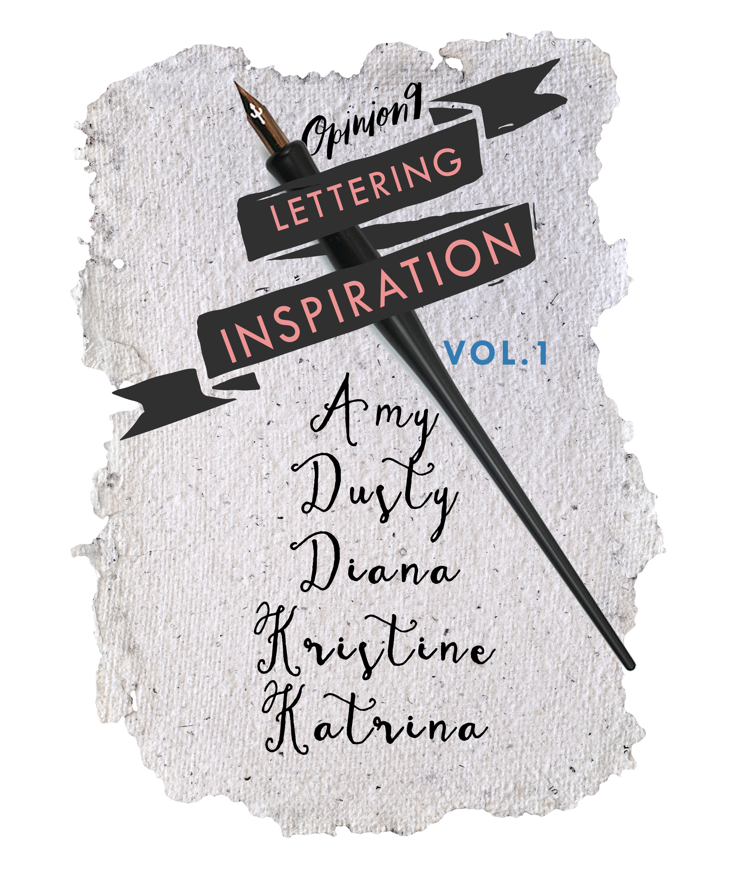 lettering inspiration vol 1- interview with real letterers via Opinion9.com