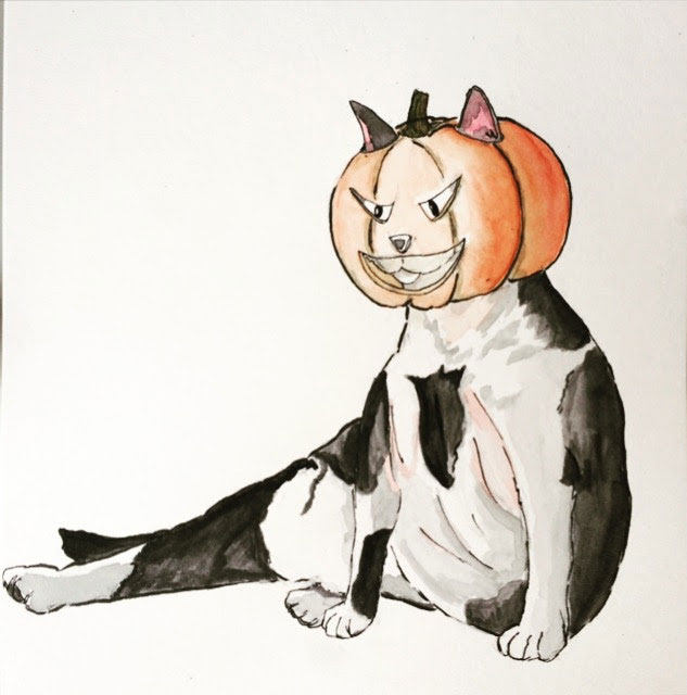 PumpkinCatIllustration