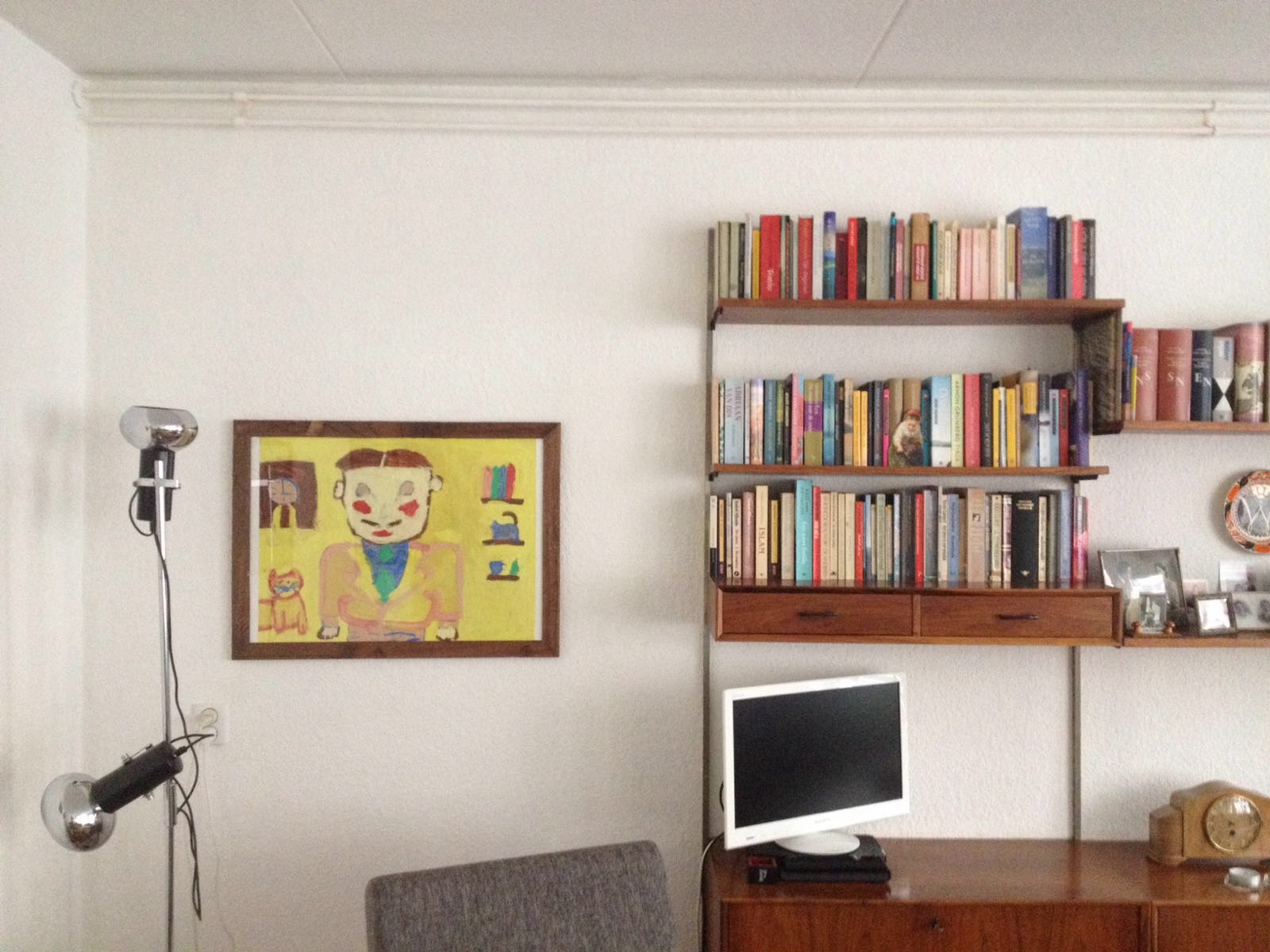 man in yellow house-IN LINDA RUSCONI'S STUDIO- An artist interview via Opinion9.com