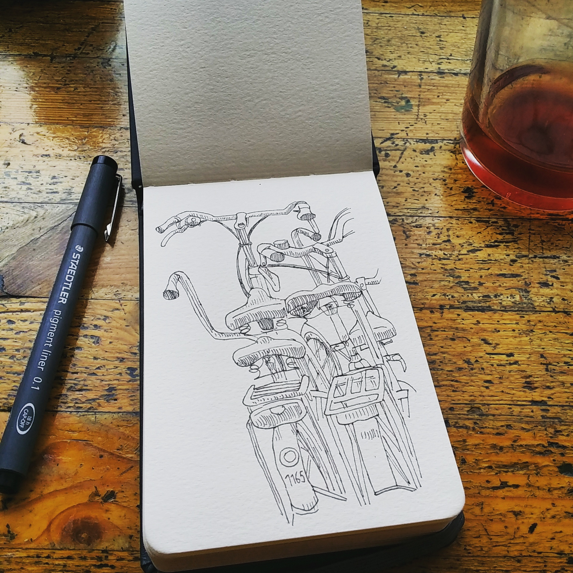 sketching at a cafe-IN LINDA RUSCONI'S STUDIO- An artist interview via Opinion9.com