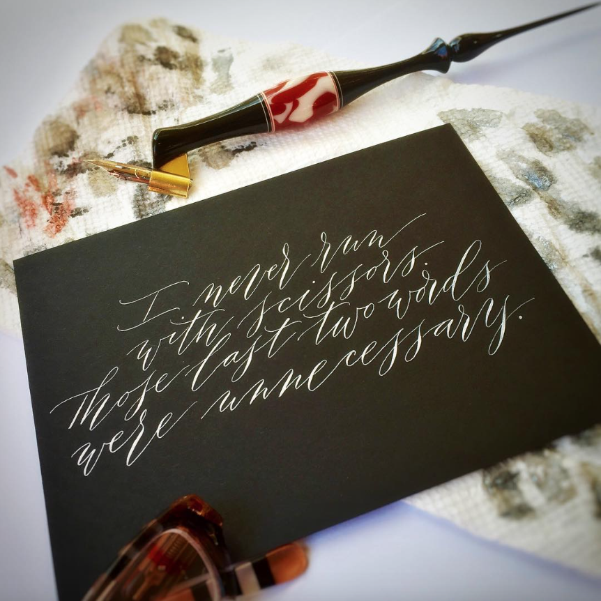 #Simple Alphabets Calligraphy Inspiration: Suz Cunningham