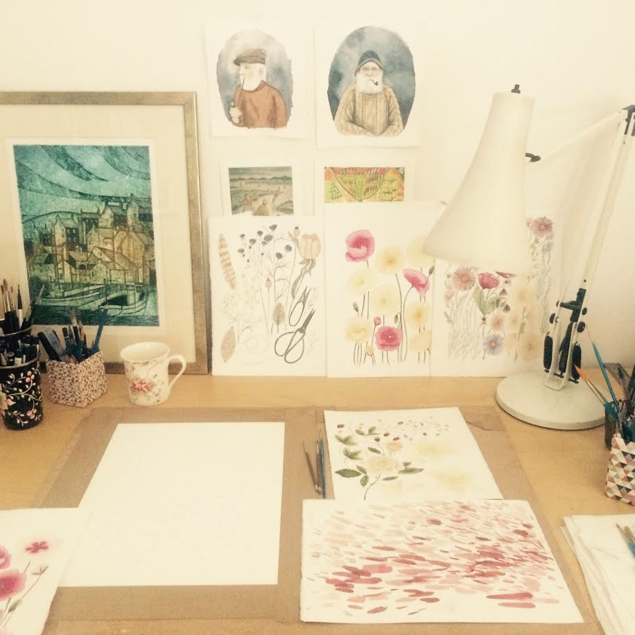 Painting a Picture with Louise Emily Jewell- an artist interview via Opinion9.com