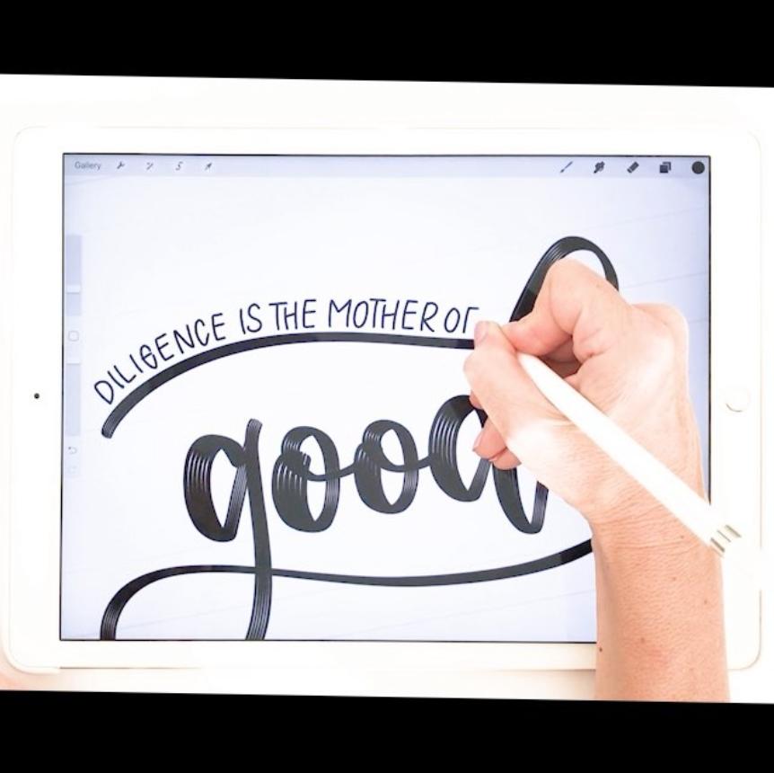 #SurelySimple Inspiration: Karin of iPadLettering via opinion9.com