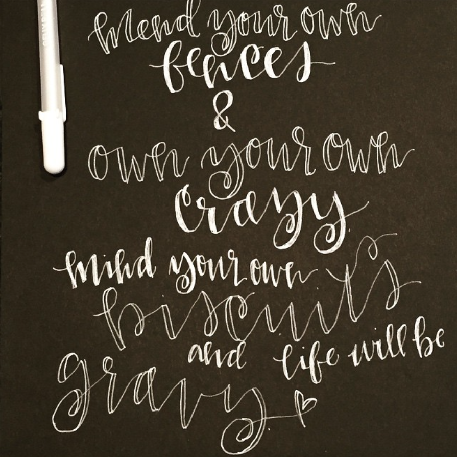 #SurelySimple Lettering Inspiration: Renmade Calligraphy